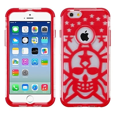 """""Insten Glow Spider Web Hard Hybrid Shockproof Transparent Crystal Silicone Case For iPhone 6S 6 4.7"""""""" - Red"""""" 2593189"