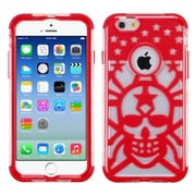 """Insten Glow Spider Web Hard Hybrid Shockproof Transparent Crystal Silicone Case For iPhone 6S 6 4.7"""" - Red"""
