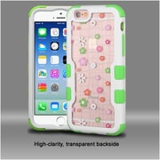 Insten Tiny Blossoms Hard Hybrid Silicone Case For Apple iPhone 6 / 6s - Pink/White