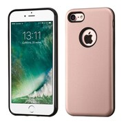 Insten Rose Gold/Black Advanced Armor Hybrid Dual Layer Case Cover for Apple iPhone 7