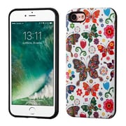 Insten Butterfly Wonderland/Black Advanced Armor (3D Pattern) Hybrid Dual Layer Case Cover for Apple iPhone 7