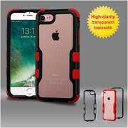 Insten Black Frame+Transparent PC Back/Red TUFF Vivid Hybrid Case Cover for Apple iPhone 7