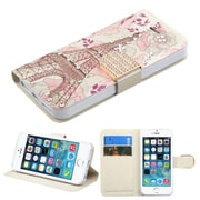 Insten Eiffel Tower Wallet Leather Case with card slot For iPhone 5/5C/5S/SE - Pink