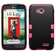 Insten Tuff Hard Case For LG Optimus Exceed 2 VS450PP Verizon/Optimus L70/Realm/Ultimate 2 - Black