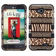 Insten Zebra Hard Case For LG Optimus Exceed 2 VS450PP Verizon/Optimus L70 MS323/Realm LS620 - Brown