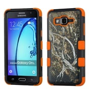 Insten Tuff Vines Hybrid 3-Layer Silicon Hard Case Cover For Samsung Galaxy On5 - Yellow/Black