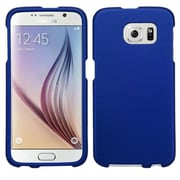 Insten Hard Rubberized Cover Case For Samsung Galaxy S6 - Blue