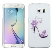 Insten High-heeled Shoes Hard Case For Samsung Galaxy S6 Edge - White/Purple