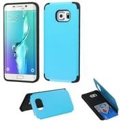 Insten Hard Case w/card holder For Samsung Galaxy S6 Edge Plus - Blue