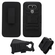Insten Hard Hybrid Plastic Silicone Case w/stand/Holster For LG G5 - Black