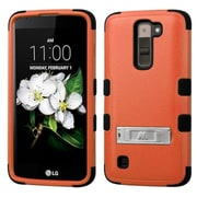 Insten Hybrid Dual Layer Hard Plastic/Silicone Case with stand For LG K7 / Tribute 5 - Orange/Black