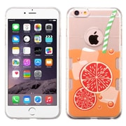 Insten Orange Soda TPU Case For Apple iPhone 6s Plus / 6 Plus - Clear/Orange
