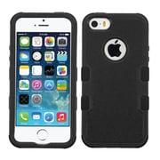 Insten Tuff Hard Hybrid Rubberized Silicone Case For Apple iPhone 5/ 5S/ SE - Black