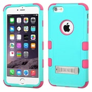 """Insten Hard Hybrid Shockproof Rubberized Silicone Case with Stand For iPhone 6 Plus / 6S Plus 5.5"""" - Blue/Pink"""