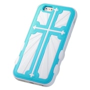"Insten Hard Hybrid Rugged Shockproof Rubber Silicone Cover Case For iPhone 6S 6 4.7"" - Baby Blue/White"