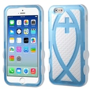 "Insten Hard Hybrid Rugged Shockproof Rubberized Silicone Cover Case For iPhone 6S 6 4.7"" - Blue/White"