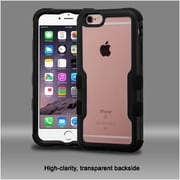 Insten Hard Hybrid Crystal Silicone Cover Case For Apple iPhone 6s Plus / 6 Plus - Clear/Black