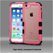 Insten Hard Hybrid Crystal Silicone Cover Case For Apple iPhone 6 / 6s - Clear/Pink