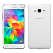 Insten Hard Rubber Coated Cover Case For Samsung Galaxy Grand Prime - White