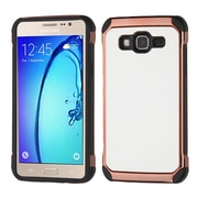 Insten 2-Layer Hybrid TPU / Hard Plastic Leather Backing Case For Samsung Galaxy On5 - White/Black