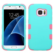Insten Tuff Hard Hybrid 2-Layer Case For Samsung Galaxy S7 - Teal/Pink