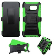 Insten Hard Hybrid Rugged Shockproof Plastic Silicone Case w/Holster For Samsung Galaxy Note 5 - Black/Green