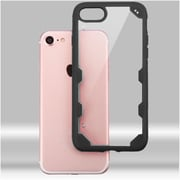 Insten Ultra Protective Crystal Clear Hard Back Panel Case with Soft Rubber Bumper For iPhone 7 - Clear/Black