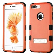 Insten Tuff 3-Piece Style Shockproof Soft TPU Hard Hybrid Cover Case For iPhone 7 Plus - Orange/Black