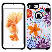 Insten Flower Buds Hard Dual Layer Silicone Case For Apple iPhone 7 Plus - Purple/White