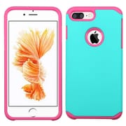 Insten Dual Layer Hybrid Soft TPU Hard Shell Case For iPhone 7 Plus - Teal/Pink