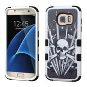 Insten Tuff Sword  Skull Hard Dual Layer Case For Samsung Galaxy S7 Edge - Black/White