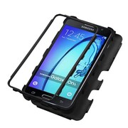 Insten Tuff Hard Dual Layer Case with Kickstand Holster for Samsung Galaxy On5 - Black