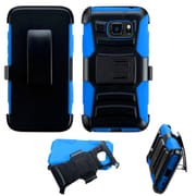 Insten Hard Hybrid Plastic Silicone Cover Case w/stand/Holster For Samsung Galaxy S7 Active - Black/Blue