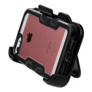Insten Hard Rubber Coated Cover Case w/stand/Holster For Apple iPhone 5/5S/SE - Black