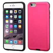 """Insten Hard Hybrid Shockproof Rubber Silicone Cover Case For iPhone 6 Plus / 6S Plus 5.5"""" - Hot Pink/Black"""
