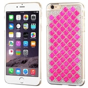 Insten Hard Case w/Diamond For Apple iPhone 6 Plus - White/Hot Pink