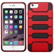 Insten Hard Hybrid Rugged Shockproof Cover Case For iPhone 6 Plus / 6s Plus - Red/Black