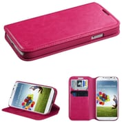 Insten Hot Pink MyJacket Wallet Case with Tray 563 For Samsung Galaxy S4