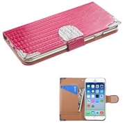 """Insten Pink Crocodile Skin Wallet Leather Case Cover Pouch For iPhone 6S 6 4.7"""""""