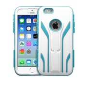 "Insten Tuff Extreme Hard Dual Layer Shock Resistant Plastic Silicone Case for iPhone 6S 6 4.7"" - White/Teal Green"