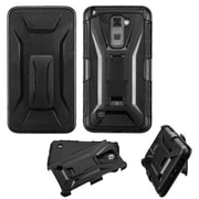Insten Hard Hybrid 2-Layer Case with Kickstand Holster Belt Clip For LG Stylo 2 - Black