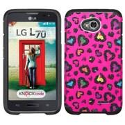 Insten Leopard Hard Hybrid Silicone Case For LG Optimus Exceed 2 VS450PP Verizon/Optimus L70 /Realm - Hot Pink/Black
