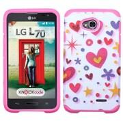 Insten Heart Graffiti Hard Cover Case For LG Optimus Exceed 2 VS450PP Verizon/Optimus L70 /Realm - Hot Pink