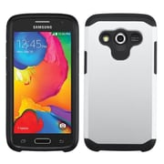Insten Silver/Black Astronoot Phone Dual Layer Hybrid Hard Shockproof Silicone Case For Samsung Galaxy Avant