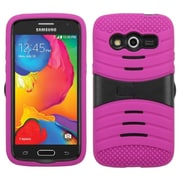 Insten Wave Symbiosis Skin Hybrid Rubber Hard Case with Stand For Samsung Galaxy Avant - Hot Pink/Black