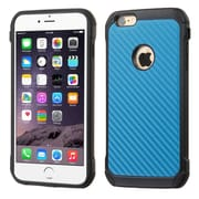 Insten Hard Hybrid Rugged Shockproof Rubber Silicone Cover Case For Apple iPhone 6 Plus/6s Plus - Blue/Black