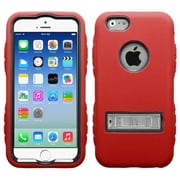 Insten Black/Red TUFF Hybrid Rugged Shockproof Silicone Hard Metal Stand Case For iPhone 6S 6 4.7""