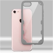 Insten Ultra Protective Crystal Clear Hard Back Panel Case with Soft Rubber Bumper For iPhone 7 - Clear/Gray