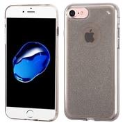 Insten Transparent Smoke Bling Glitter Flexible TPU Rubber Skin Case For Apple iPhone 7