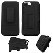 Insten Black Dual Layer Hard Hybrid Holster Case with Belt Clip For Apple iPhone 7 Plus - Black